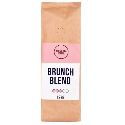 Image of a 127g bag of ground coffee